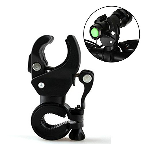 Bicycle LED Light Flashlight Torch Clip Mount Clamp Stand Holder Grip Bracket