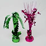 Luau Centerpiece/Balloon Weight 2AST Palm Tree Or Flamingo/Label, Case Pack of 24