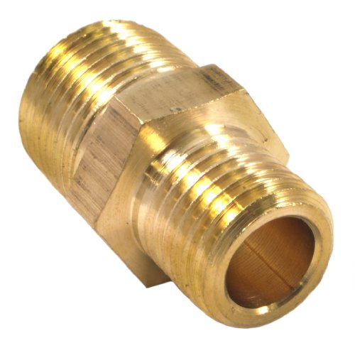 Forney 75533 Brass Fitting, Reducer Adapter, 3/8-Inch Male NPT to 1/4-Inch Male NPT (Reducer 1/4)