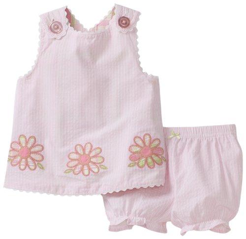 Hartstrings Baby-Girls Newborn Seersucker Top Short Set