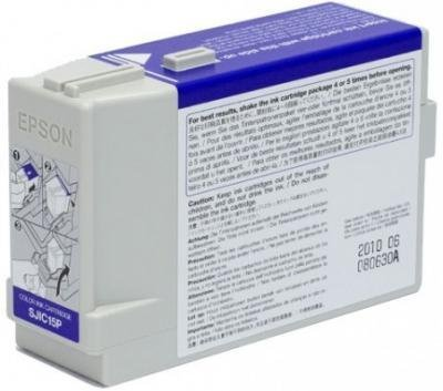 Epson SJIC15P Color Ink Cartridge for TM-C3400 label printer