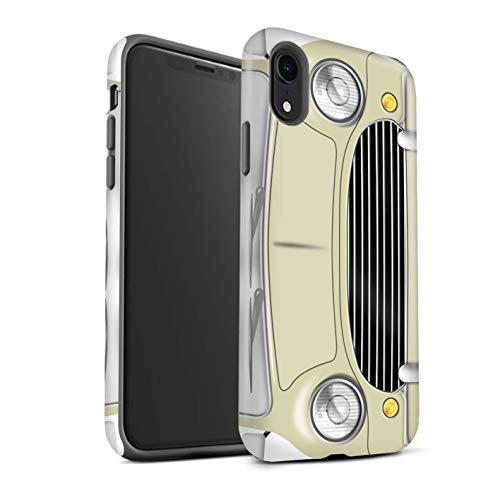 eSwish Gloss Tough Shock Proof Phone Case for Apple iPhone XR/Laguna Beige Design/Classic Retro Mini Collection
