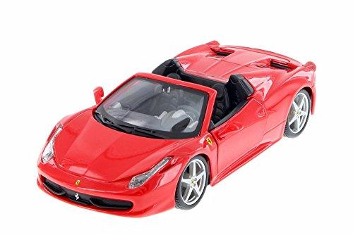 - Bburago 26017R Ferrari 458 Spider Red 1/24 Diecast Model Car
