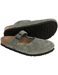 Rosemead Womens Leather Slip On Clogs