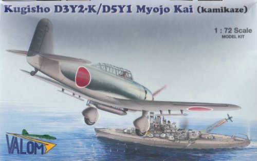 valom-72029-kugisho-d3y2-k-d5y1-myojo-kai-kamikaze-172-plastic-kit-by-valom