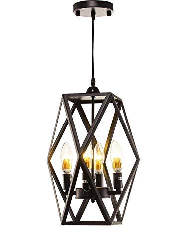 - Top Lighting 4-Light Antique Black Metal Frame Hanging Pendant Ceiling Lamp Fixture