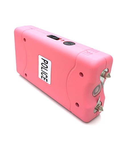 Police-800-200000000-Mini-Stun-Gun-Rechargeable-With-LED-Flashlight-Pink