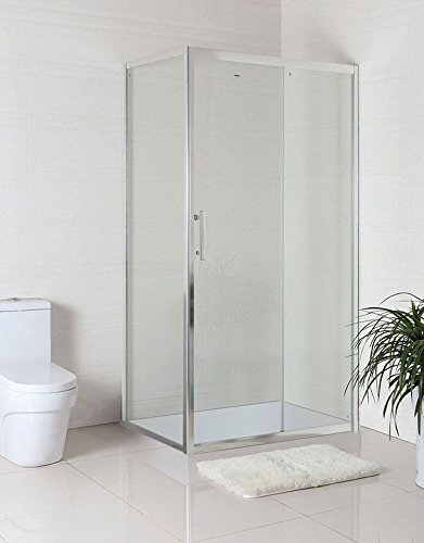 Decoraport 48 X 32 In. (120 X 80 Cm) Clear Tempered Glass Shower