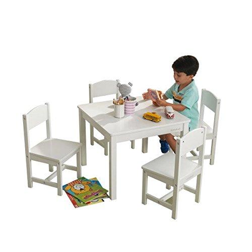 KidKraft Farmhouse Table and Chair Set, White by KidKraft
