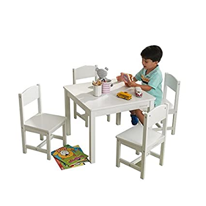 Remarkable Kidkraft Farmhouse Table And Chair Set White Andrewgaddart Wooden Chair Designs For Living Room Andrewgaddartcom