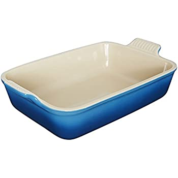 Le Creuset Heritage Stoneware 10-1/2-by-7-Inch Rectangular Dish, Marseille