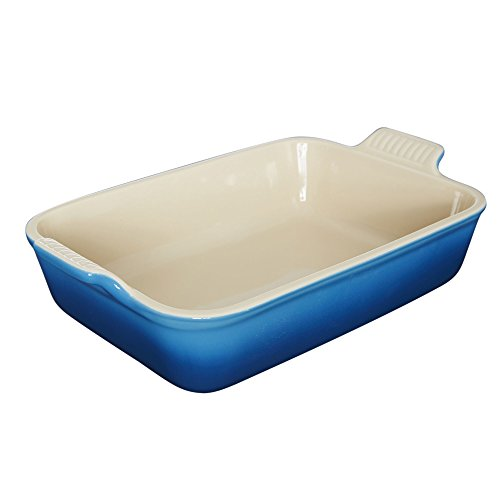 Le Creuset Heritage Stoneware 12-by-9-Inch Rectangular Dish, Marseille