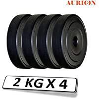 AURION Spare Vinyl Weight Plates 8 Kg for Home Gym & Fitness