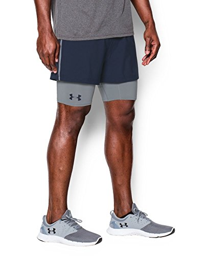 Under Armour Men's Mirage 2-in-1 Training Shorts, Midnight Navy (410), X-Large
