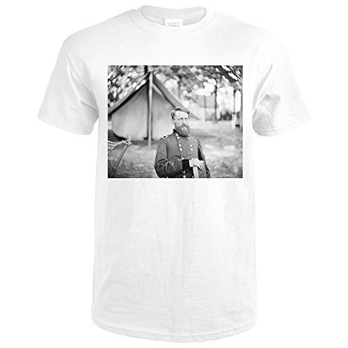 Fair Oaks, VA - Gen. Stoneman in Camp Civil War Photograph (Premium White T-Shirt - Fair Oaks Va