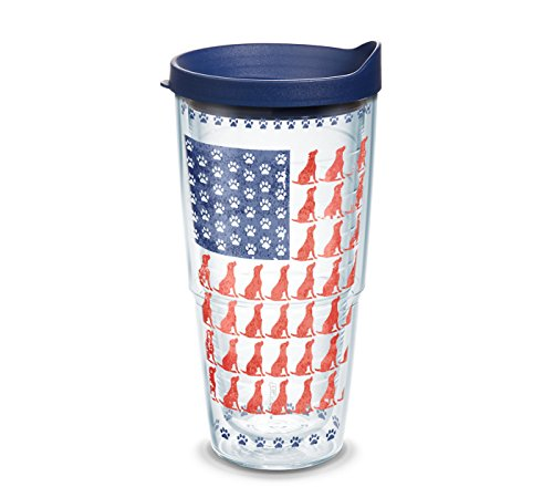 (Tervis 1303063 Project Paws Dog Flag Tumbler, 24 oz, Clear)