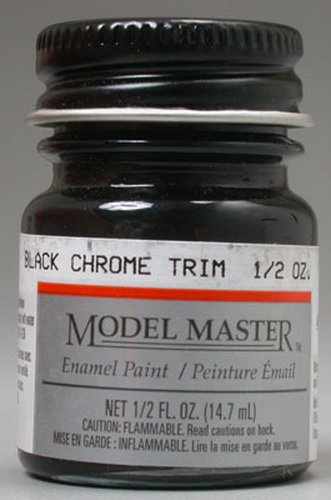 Testors Model Master Automotive Enamel Black Chrome Trim