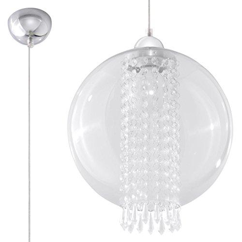 Lampe suspension LED s'adapter éclairage Lumière MAISON, BUREAU - FIORI TRANSPARENT NL.0266