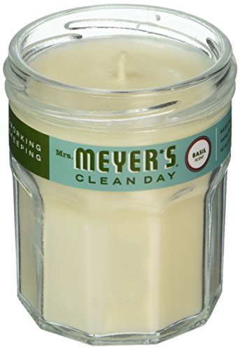 Price comparison product image MRS MEYERS Clean Day Scented Soy Candle Basil, Small, 4.9 Ounce