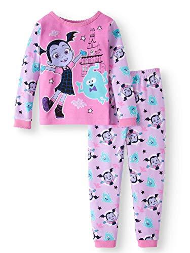 AME Sleepwear Disney Vampirina Little Girls Toddler Cotton Pajama Set,Pink,2T -