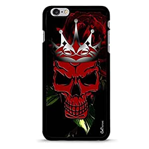 iPhone 6 Plus Hybrid Cellphone Cover Case with Skull and Crown Design-Black [Non-Retail Packaging]