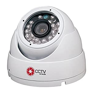 Dome Security Camera 1080p Waterproof 30fps 2 MP 4 in 1 Technology AHD/CVI/TVI/Analog Indoor/Outdoor, Vandal Proof Eyeball Fixed Lens 3.6 mm 24 IR LEDs