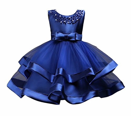 1a3453e11d11 AYOMIS Girls Lace Bridesmaid Dress Wedding Pageant Dresses Tulle Party Gown  Age 3-9Y(
