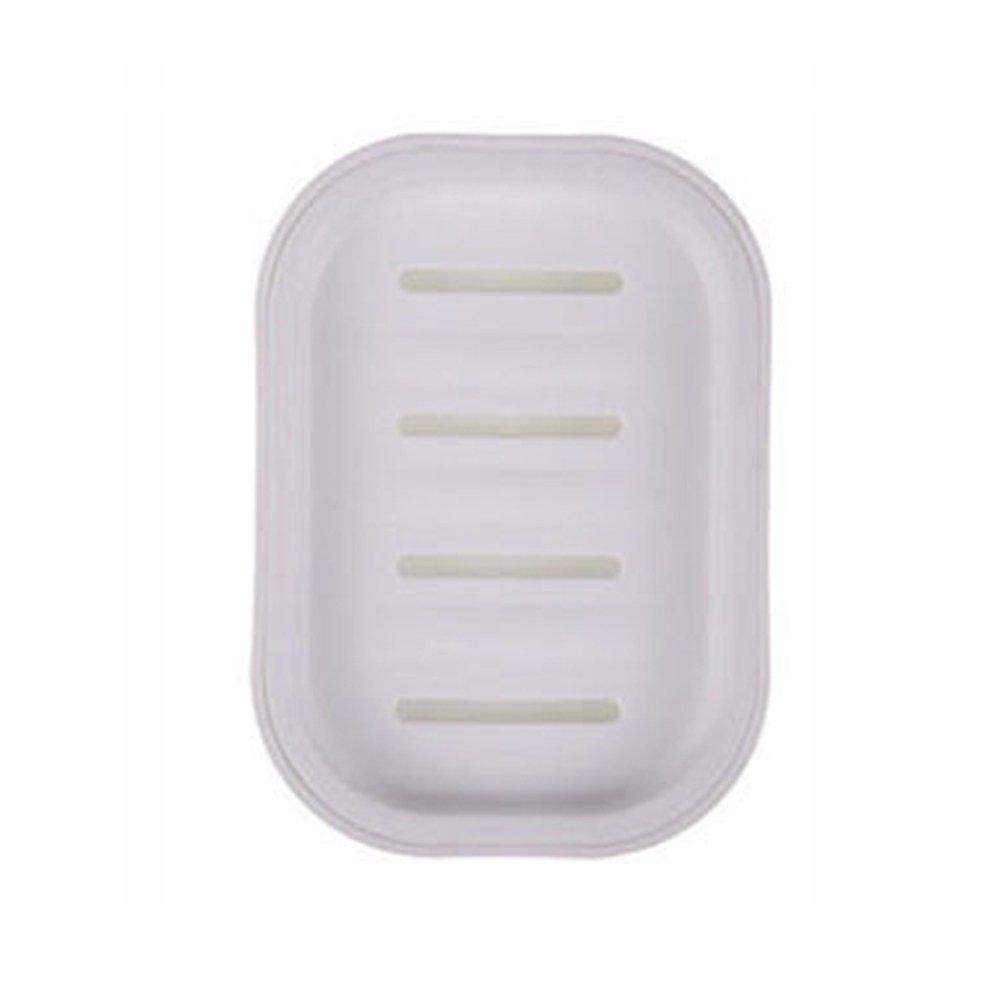 display08 Soporte para jab/ón de drenaje de doble capa para almacenamiento de jab/ón de ba/ño