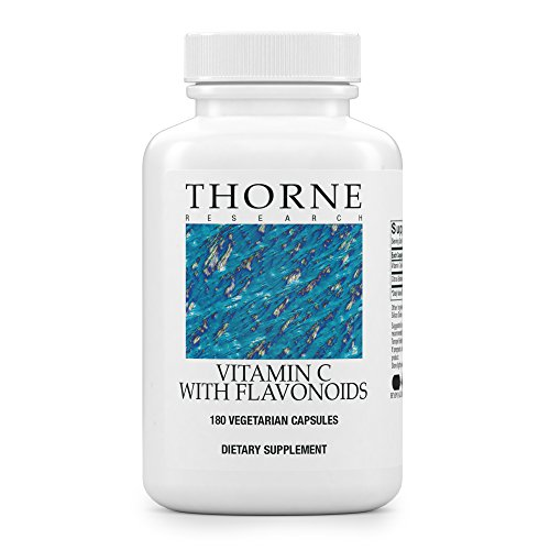 Thorne Research - Vitamin C with Flavonoids - Blend of Vitamin C and Citrus Bioflavonoids from Oranges, the Way They're Found Together in Nature - 180 Capsules (Vitamin C Thorne)