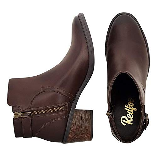 Buckle Redfoot Ankle Brown Ladies Boot q8OwZC