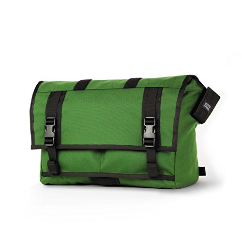 Mission Workshop Monty 21L (1,300 cu.in.) Waterproof Rolltop Messenger Bag, Kelly Green