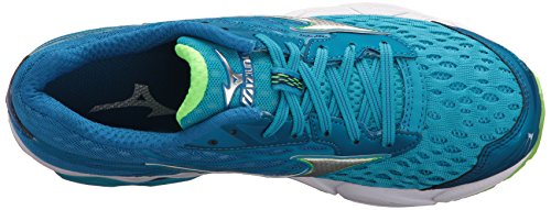 Mizuno Womens Wave Catalyst 2 Scarpa Da Corsa Diva Blu / Verde Flash
