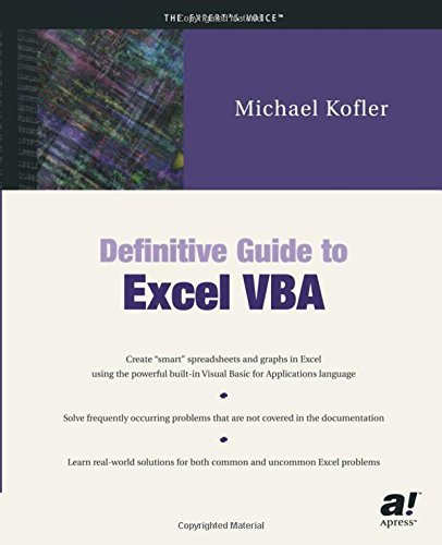 Definitive Guide to Excel VBA by Michael Kofler