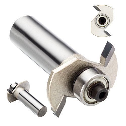 uxcell 1/8-inch Cutting Depth T Type Carbide Tipped Slotting Rabbeting Router Bit with 1/2-inch Shank ()