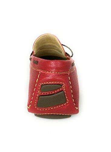 Zerimar De Mocasines Para Piel Verano Hombre Rojo Zapatos Náuticos RpxRnBOZ6