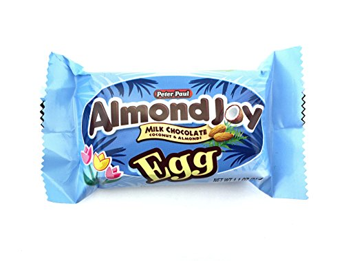 Almond Joy Egg, Milk Chocolate Coconut and Almond Easter Candy Bar, 1.1 Ounce (Pack of 36)