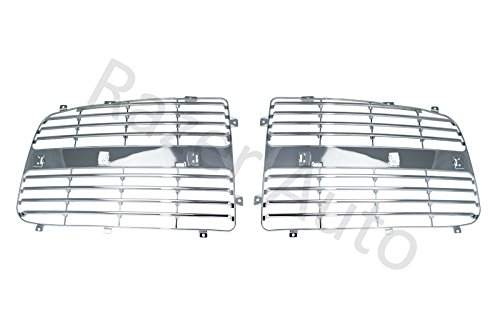 Razer Auto Chrome Grille Replace Grill Trim Insert 1 Set kit for 02-05 Dodge RAM 1500/2500/3500 02 03 04 -