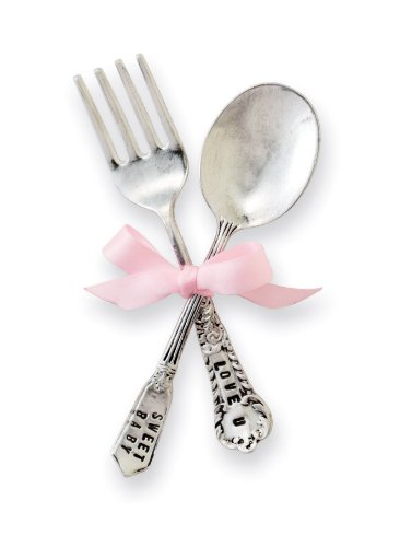 Spoon Personalized Baby - Classic Keepsakes Baby Feeding Set, Girl