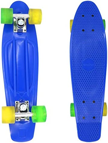 Complete Professional Cruiser 31 X 8 Skateboards Canadian Maple 22 X 6.5 Blue Skateboard for Kids Boys Girls Youths Pro and Beginners