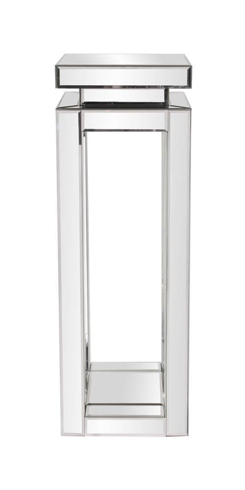 Howard Elliott Mirrored Pedestal Accent Table, Large, 12 x 12 x 36 Inch by Howard Elliott Collection