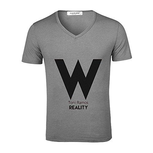Reality Toni Ramos Funny Sports T Shirts V Neck Grey