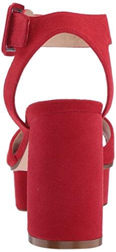 Stuart Weitzman Donne Newdeal Tacco Sandalo Camoscio Rosso