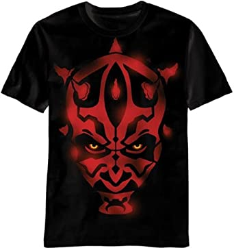 Star Wars Darth Maul Stencil Face Erwachsene Schwarz T Shirt XX Large
