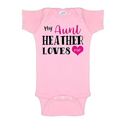 Create Your Own Personalized Custom My Aunt Add Name Here Loves Me One-Piece Baby Onesie Bodysuit (Add Me Fast)