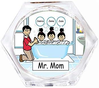 Amazon Com Printedperfection Com Personalized Drink Coaster Gift Bath Time Dad 3 Girls Home Kitchen