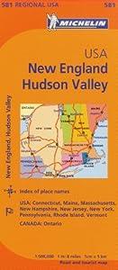 Michelin USA: New England, Hudson Valley Map 581 (Maps/Regional (Michelin))