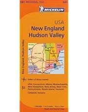 Michelin USA: New England, Hudson Valley / Etats-Unis: Nouvelle Angleterre, Vallee de l'Hudson Map 581