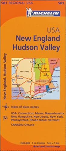 Michelin Usa: New England, Hudson Valley Map 581 Michelin Maps ... on