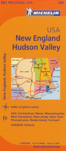 Michelin USA: New England, Hudson Valley Map 581 (Maps/Regional (Michelin)) (Map Hudson Valley)