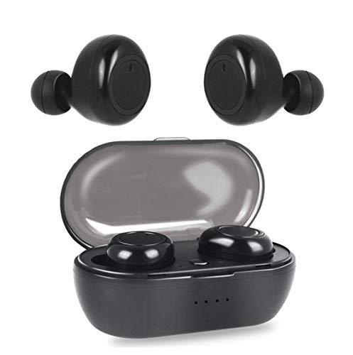 هدفون بی سیم OUYAWEI W12 TWS برای iOS تلفن همراه بلوتوث 5.0 هدفون ورزشی چند منظوره کنترل لمسی گوشواره گوش با جعبه شارژ نسخه لمسی سیاه